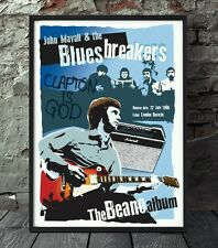 Eric Clapton bluesbreaker poster. Celebrating famous venues and gigs.