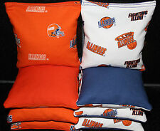 All Weather Univeristy of Illinois ILLINI Cornhole Bean Bags 8 Resin Filled Bags