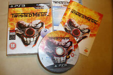 PS3 PLAYSTATION 3 jeu twisted metal + boite instructions complet pal gwo disque vgc