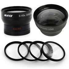 37mm Wide Telephoto Lens Kit, Macro Filters for Sony HDR-XR500V, HDR-XR520VE,NEW