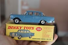 DINKY TOYS #186 Mercedes 220 SE ...mint example ORIGINAL BOX