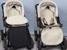 Universal  FOOTMUFF COSY TOES FIT  PUSHCHAIR STROLLER  Ecological wool 105 cm