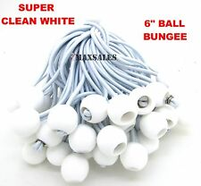 "(25) 6"" White Ball BUNGEE Cord Tarp Bungee Tie Down Strap Bungi Canopy Straps"