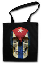 CUBA FLAG SKULL Hipster Shopping Cotton Bag - Biker Kuba Revolution Fidel Castro