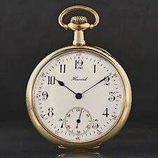 Rare 1914 E Howard 19 Jewel Solid 14K Gold Award Pocket Watch, Excellent Cond!