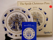 Spode Christmas Plate 1979 Away in a Manger