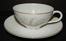 CUP and SAUCER Set White/Gold 1961 Kaysons China Japan Golden Rhapsody