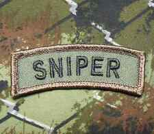 SNIPER TAB TACTICAL ARMY BADGE INFIDEL USA FOREST VELCRO® BRAND FASTENER PATCH