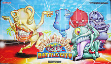 2014 Ojama Battle City Yugioh Game Playmat Official Tournament Mat HARD TO FIND