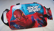 Marvel Spiderman Red Black Printed Rolling Duffle Bag New Overnight Travel