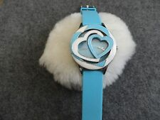 Ladies Pretty Geneva Quartz Watch with a Light Blue Band - Water Resistant