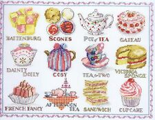 "Afternoon Tea Sampler Cross Stitch Kit - DMC - 13"" x 10"""