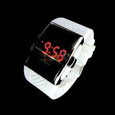 Luxury Women Fashion LED Digital Date Sports Quartz Waterproof Wrist Watch White