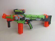 large NERF NITRON VORTEX GUN scope & 2 clips DISC DART TOY BLASTER H06