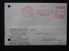 DR Deut. Reich Heimatbeleg Postkarte Linhardt & Co. BAMBERG 10.2.43 Freistempel