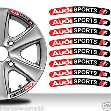 8 Audi S line Autocollants Stickers Auto Voiture Jante Roue Liseret Sport C11