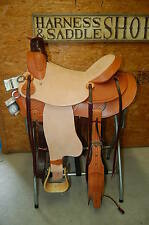 """16"""" G.W. CRATE WADE RANCH ROPING SADDLE FREE SHIP ONE OF A KIND USA ALABAMA MADE"""