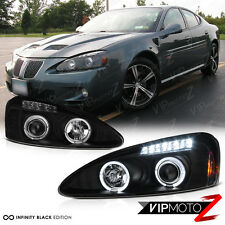 Black Halo Angel Eye Projector Headlight 04-08 Pontiac Grand Prix GT1 GT2 GTP