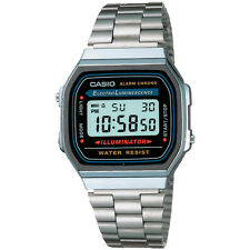 Casio Uomo Orologio Watch Illuminator Acciaio Vintage Man Uhr A168WA-1DF Crono