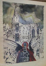 SALVADOR DALI LES ALSACE HAND SIGNED LITHOGRAPH SNCF FRENCH RAILROAD BUTTERFLIES