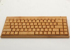 Handmade Bamboo Wooden 2.4G Wireless Keyboard for Laptop PC Good Business Gift