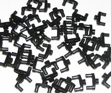 Lego Lot of 50 New Black Technic Pin Connector 3L with 2 Pins Center Hole Parts