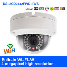 Hikvision DS-2CD2142FWD-IWS 4MP WIFI IP Kamera WDR POE Mini Dome CCTV IR Kamera