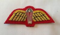 Para Wings, Mess Dress, Sleeve Badge, British Army, Gold & Red, Military