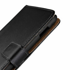 Black Genuine Leather Business Wallet Case Cover For Samsung Galaxy Note 1 i9220