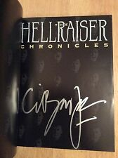 SIGNED- The Hellraiser Chronicles Clive Barker + Photo PB New Unread