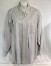 Brooks Brothers Men's Blue White Checkered Button Up Shirt Long Sleeve Size 17-3