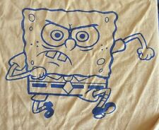SpongeBob SquarePants Large T Shirt 2002 Nickelodeon Nicktoons Yellow Blue