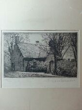 "Don Swann,original etching signed limited edition, ""Colonial Treasury,Annapols."""