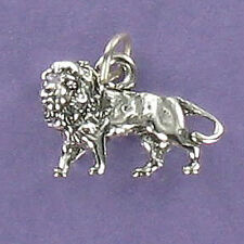 African Lion Charm Sterling Silver for Bracelet King of the Jungle Safari Male