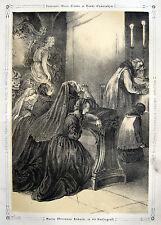 Maria Theresia von Österreich 1771 Kaisergruft Wien Habsburger Vienna Litho 1840