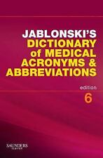 Jablonski's Dictionary of Medical Acronyms and Abbreviations with CD-R-ExLibrary