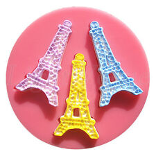 Hot Eiffel Tower Silicone Fondant Mold Cake Decorating Chocolate Baking Mould