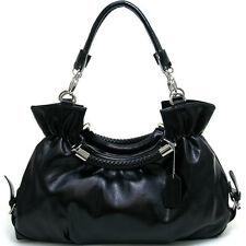 Dasein Women's Fashion Belted Convertible Shoulder BagSatchel - Black