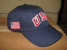 $50. POLO-RALPH LAUREN Navy USA / FLAG Baseball Cap/ Hat (2016 OLYMPICS)