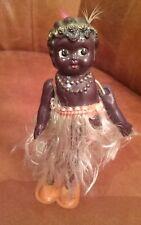 Vintage Black Carnival Googly celluloid tin Japan Wind Up dancing doll Wiggler