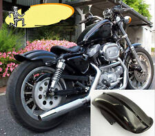 Rear Black Mudguard Fender For Harley Sportster Solo Bobber Chopper Cafe Racer T