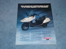 """1986 Honda Helix Motorscooter Vintage Ad """"...Not Everyone Wants to Look at the.."""