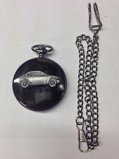 Suzuki GX ref244 emblem polished black case mens pocket watch