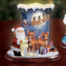 Bradford Exchange Magical Christmas Eve Figurine Rudolph Candle holder