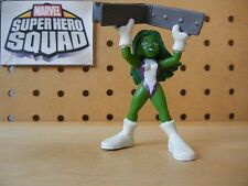 Marvel Super Hero Squad VERY RARE Green SHE-HULK w/ I-Beam from Hulk Wave 2