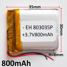 3.7V 800mAh LiPo polymer li ion Battery For mobile phone DVD GPS GPS mp3 803035