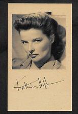 Katharine Hepburn Autograph Reprint On Genuine Original Period 1950s 3x5 Card