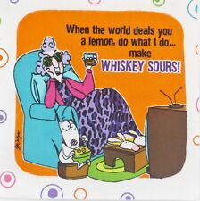 """Maxine Fabric Life gives Lemons make Whiskey Sours 7"""" quilt Block Square"""