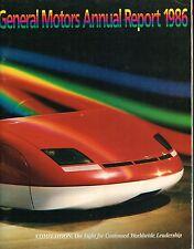 1986 GM General Motors Shareholders ANNUAL REPORT: ALLANTE,PONTIAC,CHEVY,BUICK,