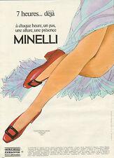 Publicité 1981  Chaussures MINELLI escarpin ballerine chevreau semelle cuir